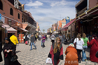 Marrakech street Editorial Photo