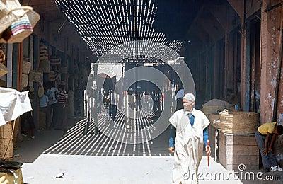 Marrakesh, базар. Марокко. Редакционное Фото