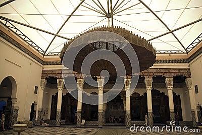 Marrakesh museum chandelier
