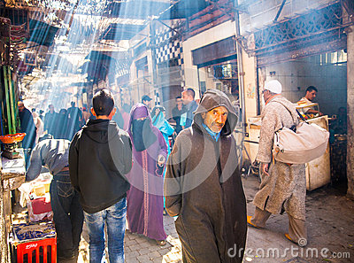 Marrakesh street Editorial Stock Photo