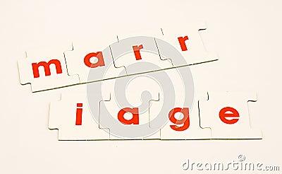 Marriage split up or divorce.