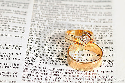 Marriage text & rings