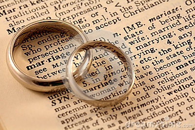 Marriage Text with Wedding Bands