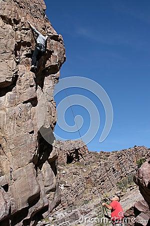 Married couple on climb