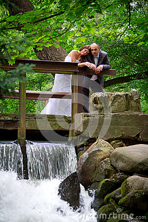 Married couple portrait in the park