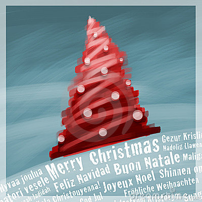 Marry Christmas greetings card