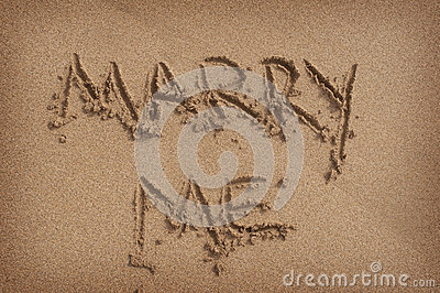 Marry Me  Written in Sand on Beach