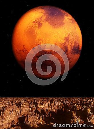 Mars-Ansicht