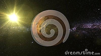 Mars 3D Text Around Planet Mars Stock Video - Video: 57084975