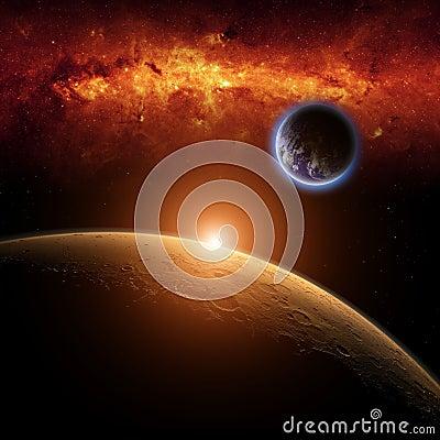 Free Mars, Earth Stock Image - 28702851