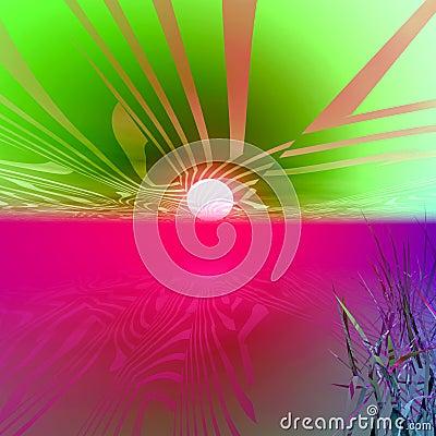 Mars-Fantasie-Sonnenaufgang