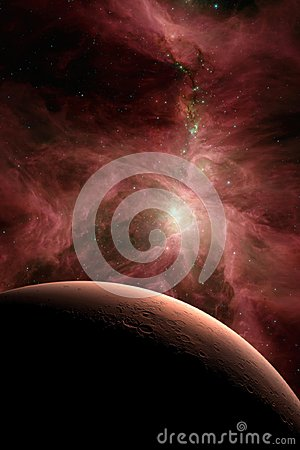 Free Mars In Outer Space. Royalty Free Stock Photo - 110215145