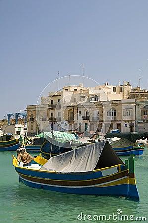 Marsaxlokk luzzu village malta