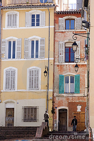 Free Marseille Buildings With Colorful Windows Stock Photos - 8804553