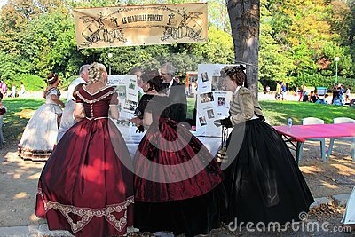 MARSEILLE, FRANCE - AUGUST 26: Organizers evenings old dances in Editorial Photography