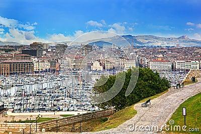Marseille harbour, France