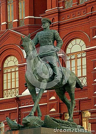 Marshal Zhukov s statue