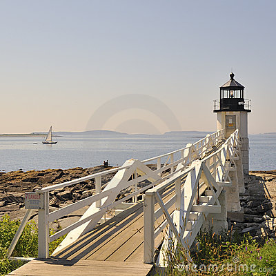 Free Marshall Point Lighthouse Port Clyde Maine, USA Royalty Free Stock Photos - 17807228