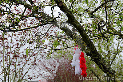 Martenitsa on an cherry tree