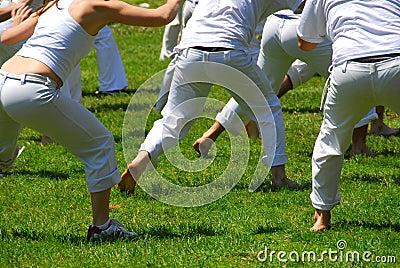 Martial art students