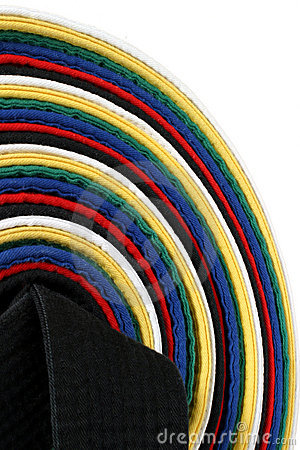 Martial Arts Belts - vertical