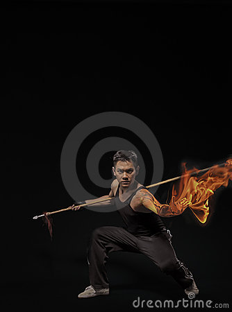 Martial Arts with flaming fists