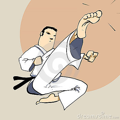 Martial arts - Karate power kick