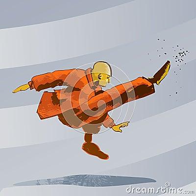 Martial arts - Kung Fu kick