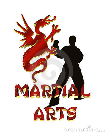Martial Arts Logo Graphic isolated