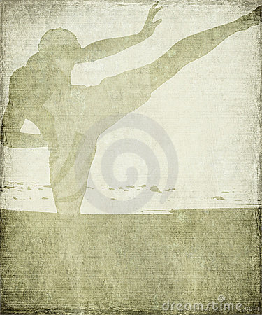 Free Martial Arts Silhouette On Grey Grunge Background Royalty Free Stock Images - 11875579