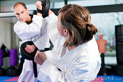 Martial Arts Sport Training In Gym Royalty Free Stock Images - Image: 18050459