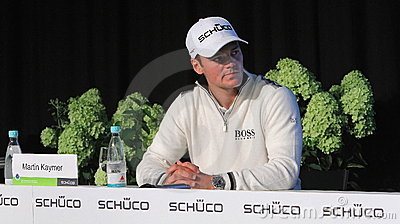 Martin Kaymer , press conference. Editorial Photo