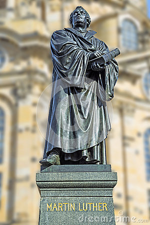 Free Martin Luther Dresden Royalty Free Stock Photo - 28496915