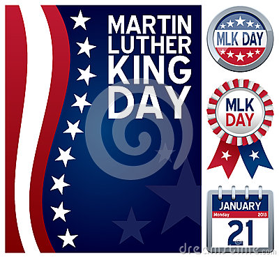 Free Martin Luther King Day Set Stock Photography - 28125182