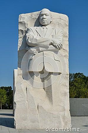 Martin Luther King Jr. Memorial in Washington DC  Editorial Photo