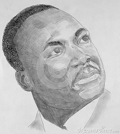 Martin Luther King portrait Editorial Stock Image