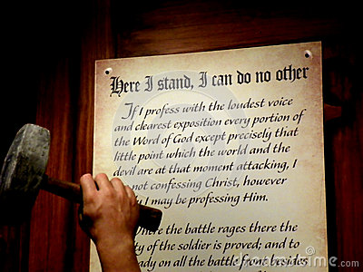 Martin Luther Ninety Five Theses Editorial Stock Photo