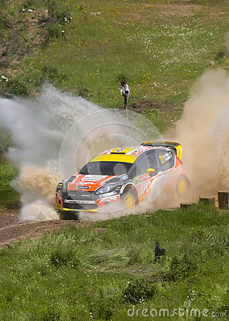 Martin Prokop in Rally de Portugal 2013 Editorial Stock Photo