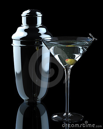 Free Martini And Shaker Stock Images - 9741204