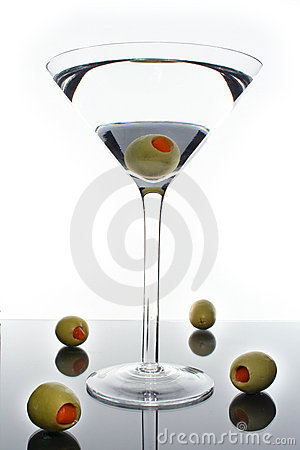 Free Martini Cocktail Drink And Olives Royalty Free Stock Photography - 5829327