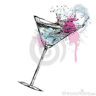 Free Martini Cocktail With. Vector Illustration Royalty Free Stock Photography - 35637717
