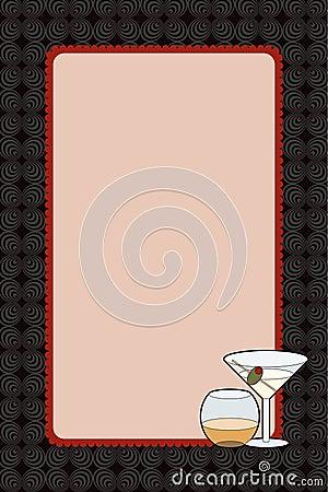 Martini Drinks Night Invitation