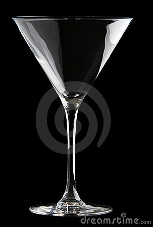 Free Martini Glass Isolated On A Black Background. Royalty Free Stock Images - 13492639