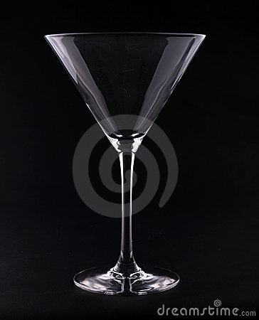 Free Martini Glass On Black Royalty Free Stock Photos - 19510828