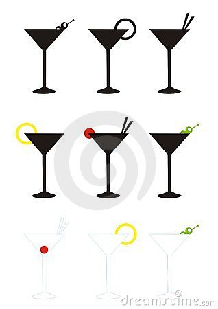 Free Martini Glasses Royalty Free Stock Photos - 4030998