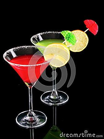 Free Martini Glasses On Black Stock Photography - 19875522