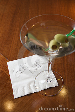 Martini with napkin