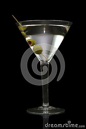 Free Martini On Black Stock Photos - 26486053