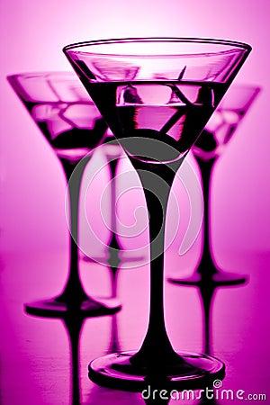 Free Martini On Purple Stock Images - 2950274