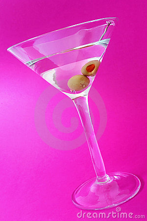 Free Martini Over Purple Stock Images - 805814